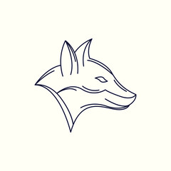 Lion Mono Line Logo. Lion Mascot Logo. Logo Template. Lion vector illustration.