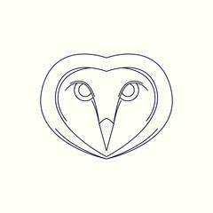 Owl Mono Line Logo. Owl Mascot Logo. Logo Template. Owl vector illustration.