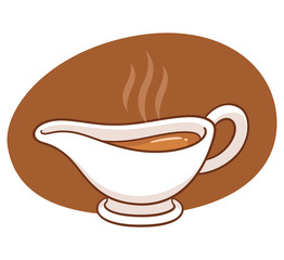 Gravy boat illustration