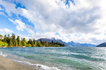 Beautiful landscape of Queenstown, South Island, New Zealand