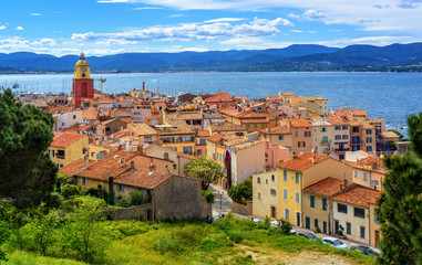 Historical Old Town of St Tropez, Provence, France