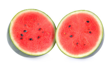 Watermelon on a white background.