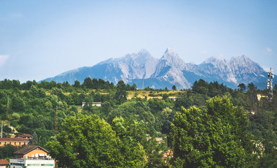 Fotomurales - Summer panorama of Apennines mountains, Italy