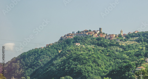 Wall mural Summer panorama of Apennines mountains, Italy
