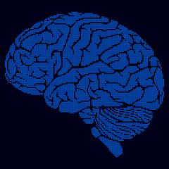 Blue pixel brain