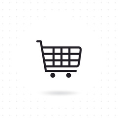 Shopping cart icon. Online store icon. Online shopping web icon. Flat line vector illustration