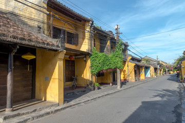 Sunrise in Hoi An Ancient town with normal life style May 2017.