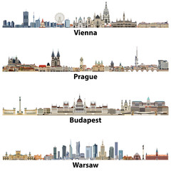 Vienna, Prague, Budapest, Warsaw