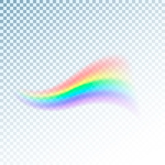 Rainbow icon. Abstract colorful spectrum of light. Vector illustration isolated on transparent background