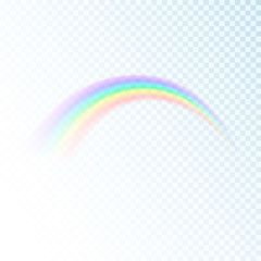 Rainbow icon isolated on transparent background. Sun light colorful spectrum. Vector illustration