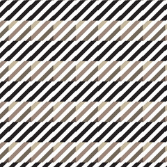 white diagonal striped on brown shade square and black horizontal striped pattern background