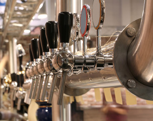 brewery taps to deliver the beer at the pub
