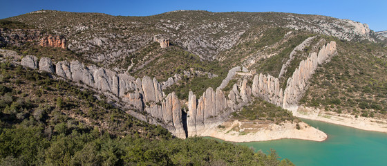 Panorama of the Finestres Wall