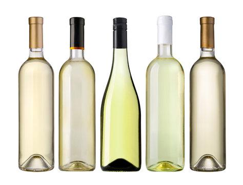 white wine bottles