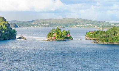 Landschaft an der Küste von Norwegen