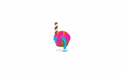bread, ice cream, sweets, desserts, cake, emblem symbol icon vector logo