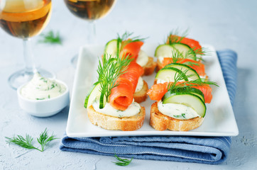 Smoked Salmon Cucumber cream cheese Spread appetizers