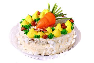 Vegetables looking cake