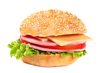 Small fresh hamburger