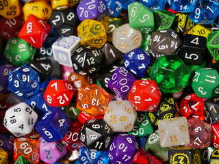 collection of gaming dice
