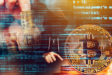 Computer hacker and Bitcoin cryptocurrency