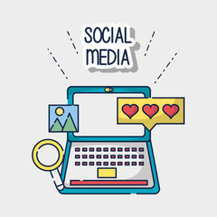 social media element to connection network