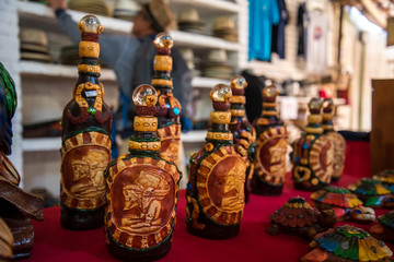Mayan Stone Bottle Artwork