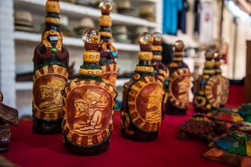 Mayan Stone Bottle Artwork
