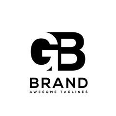 creative Letter GB logo design black and white logo elements. simple letter GB letter logo,Business corporate letter GB logo design vector.