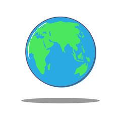 Wall Mural - Flat dlobal world icon, vector Earth