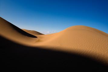 The scenery of desert in Ejina, Inner Mongolia, China