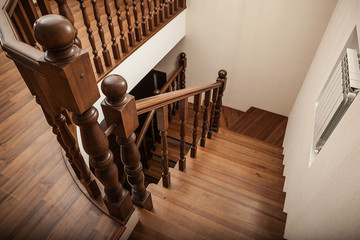 Photo sur Plexiglas Escalier wooden stairs