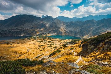 Autumn in Five lakes valley in High Tatra Mountains, Poland