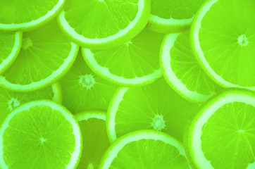 background of sliced orange.