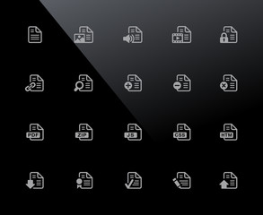 Documents Icons - Set 1 of 2 // 32px Series - Vector icons adjusted to work in a 32 pixel grid.