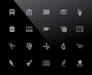 Education Icons // 32px Series - Vector icons adjusted to work in a 32 pixel grid.