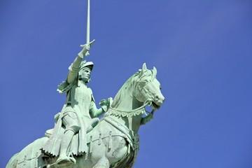 Joan of arc statue at Sacre Coeur in Paris France