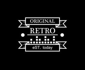 music original retro badge design