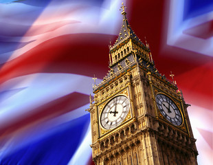 Big Ben - London - British Flag
