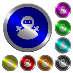 Ninja avatar luminous coin-like round color buttons
