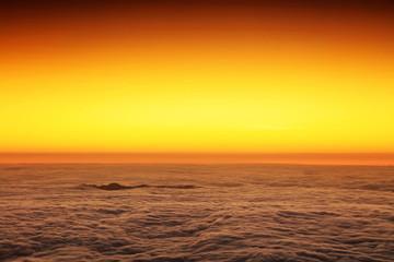 Sunrise over the Atlantic Ocean, seen from Pico volcano (2351m), Pico Island, Azores, Portugal