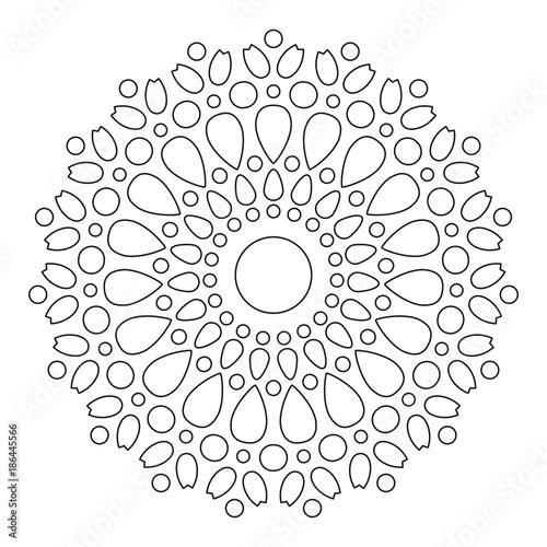 Simple Mandala Shape for Coloring  Vector Mandala  Floral