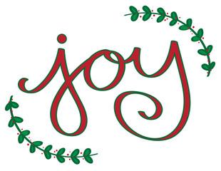 Christmas Joy Lettering