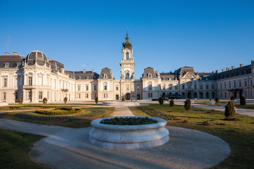 The Festetics baroque castle and its park in Keszthely in Hungary