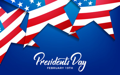 Presidents Day. Banner for USA Presidents Day Holiday