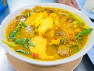 Kaeng Som (a sour spicy type of curry soup stew)