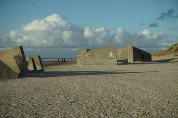 ..............Dänemark, Bunkeranlagen, Bunker, Ruinen, Nordsee