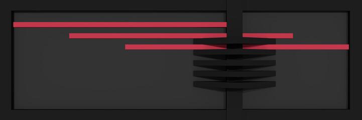 Header/Banner für die Website mit klaren Linien und Kastenform in schwarz, altrosa und grau.
