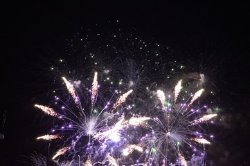colorful new year fireworks