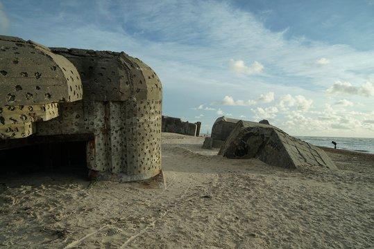 .......Dänemark, Bunkeranlagen, Bunker, Ruinen, Nordsee